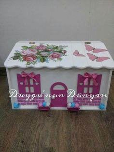 Wooden Boxes, Toy Chest, Storage Chest, Decorative Boxes, Country, Toys, Crafts, Painting, Furniture