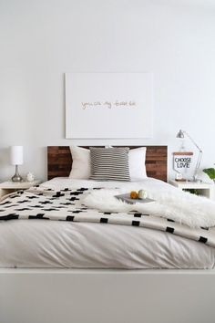 Simple and affordable bedroom decor, neutrals, minimalist, contemporary, decor, home, apartment, interiors