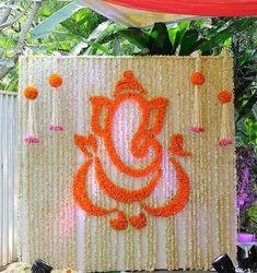 Wishing everyone a warm Ganesh Chaturthi – Engagement Decoration Desi Wedding Decor, Wedding Stage Decorations, Wedding Mandap, Backdrop Decorations, Wedding Table, Wedding Church, Backdrops, Wedding Vintage, Wedding Ideas