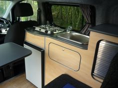 """Nissan NV200 classic """"side kitchen"""" style but minaturised to suit the much smaller vehicle."""