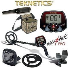 cool Teknetics Eurotek Pro Metal Detector with Coil Cover Rain Cover Pouch PinPointer by Teknetics