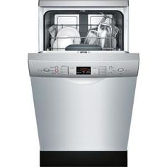 Bosch 300 Series 18 In Stainless Steel Ada Compact Front Control Dishwasher With Stainless Steel Tub 46dba Spe53u55uc The Home Depot Steel Tub Compact Washer Built In Dishwasher