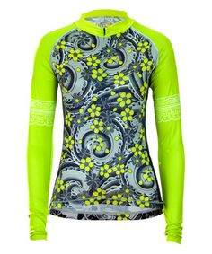 ecd005276 Peridot Gracious Koi Long-Sleeve Cycle Jersey