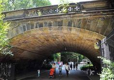 One of Calvert Vaux's earliest arches, Denesmouth supports the 65th Street Transverse and it is the only Transverse Arch that is highly ornamented.