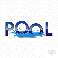 Logo design for sale 2013 on pinterest logo lotus and black horses - Swimming pool logo design ...