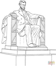 The Lincoln Memorial Coloring page | SuperColoring.com