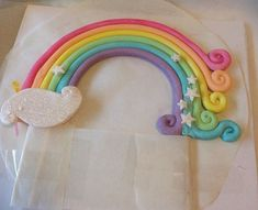 A rainbow cake is fun to look at and eat and a lot easier to make than you might think. Here's a step-by-step guide for how to make a rainbow birthday cake. Rainbow Birthday, Unicorn Birthday Parties, Birthday Cake, Cake Rainbow, Fondant Rainbow, Birthday Ideas, Little Pony Cake, Bowl Cake, Fondant Toppers