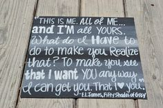 50 Shades of Grey Quote on 12x12 Canvas Panel by HandyQuotes