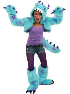 Tween Sullivan The Monster Shrug Costume | Wholesale Monsters Inc Costumes for Girls