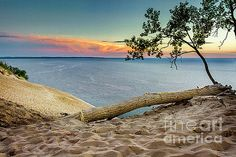 Karen Jorstad - Sand Dune Sunset Over Lake Michigan I