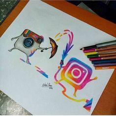 Amazing drawings, cool artwork, amazing artwork, art drawings, drawing th. Amazing Drawings, Cool Art Drawings, Cool Artwork, Amazing Artwork, Draw On Picture App, Art Drawings Sketches, Disney Drawings, Pencil Drawings, Social Media Art