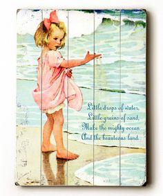 ArteHouse Vintage Girl on Beach Wood Wall Art Vintage Beach Signs, Beach Wood Signs, Wooden Signs, Art Et Nature, Beach Posters, Art Posters, Water Walls, Beach Girls, Beach Bum