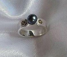 Prstene - Čierna perla - 5591508_