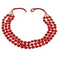 ShalinIndia - Collana realizzata a mano con perline rosse ShalinIndia, http://www.amazon.it/dp/B00A6745KS/ref=cm_sw_r_pi_dp_P2-Ntb1W5447G