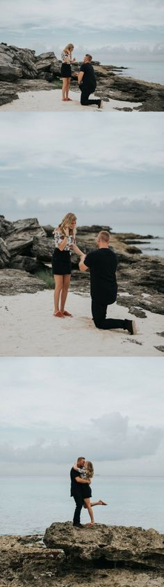 This destination proposal in Cancun is a dream come true! The beach engagement photos are stunning.