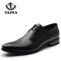 Fashion 100% Genuine Leather Men Dress Shoes - Casual Shoes