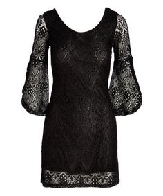 Loving this Black Lace Sheer-Back Bodycon Dress on #zulily! #zulilyfinds