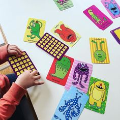 Our most favourite card game- brilliant for object recognition & visual discrimination... Plus we love the vibrant monsters and screaming SNAP at the top of our lungs! Sorry neighbours.  Thanks @boxformonkeys - such fun! #earlylearning #learningthroughplay #playmatters #totschool #playtime