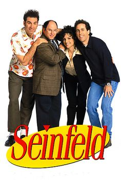 Created by Larry David, Jerry Seinfeld. With Jerry Seinfeld, Julia Louis-Dreyfus, Michael Richards, Jason Alexander. The continuing misadventures of neurotic New York City stand-up comedian Jerry Seinfeld and his equally neurotic New York City friends. Jerry Seinfeld, Seinfeld Tv Show, Larry David, Great Tv Shows, Old Tv Shows, 1990s Tv Shows, Mtv Shows, The Hills Tv Show, Movie Posters