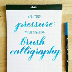 How to apply pressure when creating brush calligraphy with @tombowusa Dual Brush Pens