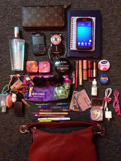 April 2014 Things I carry around in my bag on work days. - online shopping for purses, handbag shops online, purse online shopping *ad