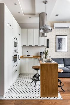 If you are looking for Apartment Kitchen Design Ideas, You come to the right place. Below are the Apartment Kitchen Design Ideas. This post about Apartment . Interior Design Examples, Interior Design Kitchen, Modern Interior, Country Interior, Flat Interior Design, Small Space Interior Design, Küchen Design, Home Design, Design Ideas