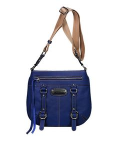 Take a look at this Royal Blue Outback Crossbody Bag by Franco Sarto on #zulily today!