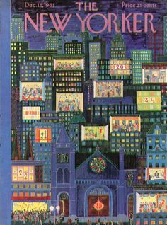 December 16, 1961 New Yorker cover, Ilonka Karasz