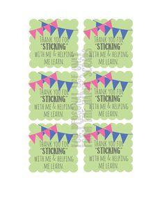 """The Happy Scraps//Thank you for """"Sticking"""" with me and helping me learn. printable"""
