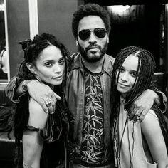 Lisa Bonet, Lenny Kravitz & Zoe Kravitz