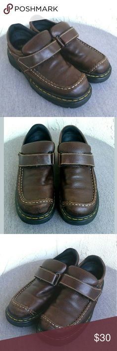 Dr Doc Marten Mary Jane Brown Loafers US 9 Dr Doc Marten Shoes Womerns Brown Leather Monk Strap Mary Jane Platform Loafers Size US 9 UK 7 -  Excellent preowned condition, barely used, still like new....Enjoy!  Type: Shoes Style: Monk Strap Mary Jane Platform Loafers Brand: Dr Doc Marten  Size: US 9 / UK 7 Material: Leather & Rubber Color: Brown Condition: Excellent Preowned Condition, Barely Used  Country of Manufacturer: England Stock Number: 0013 Dr Doc Martens Shoes Flats & Loafers