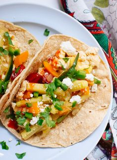 Simple veggie breakfast tacos - Go #GlutenFree with Gerry's Go No Gluten wraps or #LowCarb with Gerry's Go Low Carb wraps or darn healthy with Gerry's Wonder Wraps.