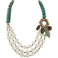 Stephen+Dweck+jewelry+images   Stephen Dweck Green Quartzite Multi Strand Necklace