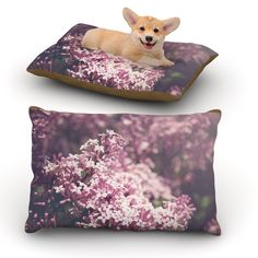 "Jillian Audrey ""Lilacs"" Pink Floral Dog Bed"
