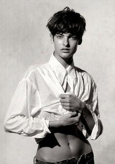 Peter LINDBERGH :: Linda Evangelista, Vogue Italy, 1988