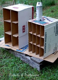 Ways to Repurpose Cardboard Boxes into Storage | Scattermom
