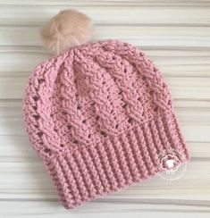 5558de2bc30 CROCHET HATS DESIGN Vina is a free crochet hat pattern that is rich in  texture with beautiful cables and shell stitches. Instructions are also  included for ...