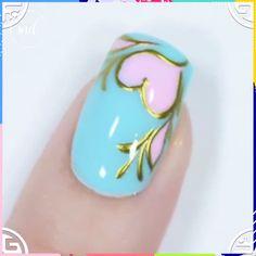 Nail Art Designs Videos, Creative Nail Designs, Nail Art Videos, Colorful Nail Designs, Creative Nails, Polygel Nails, Cute Nails, Pretty Nails, Acrylic Nails