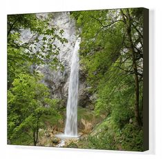 Inch Print - High quality prints (other products available) - Wildenstein waterfall at Obir, Obir-Massif, near Gallizien, Carinthia, Austria - Image supplied by Fine Art Storehouse - Photograph printed in the USA Artwork Prints, Poster Size Prints, Fine Art Prints, Framed Prints, Canvas Prints, Carinthia, Gloss Matte, Travel Photographer, Photographic Prints