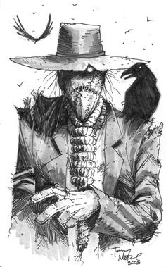 Scarecrow with noose - by Tony Moore