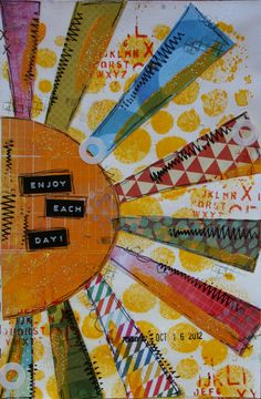 une page art journal de Joe (Joanne Charron)