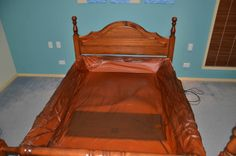 Queen Waterbed with Solid Timber Bedframe and matching Drawers Pialba ...