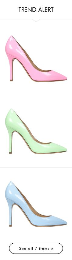 """""""TREND ALERT"""" by thelabelmonster ❤ liked on Polyvore featuring shoes, pumps, the label monster, high heel pumps, black patent leather pumps, court shoes, pointed toe high heel pumps, women shoes, neon lime green and lime green shoes"""