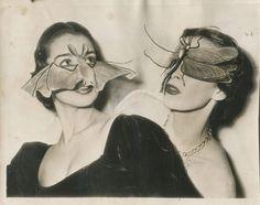 Some excellent party masks, Paris, 1950.