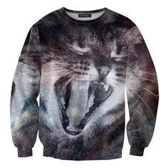 Calaxy Cat Sweatshirt Unisex, $48, now featured on Fab.