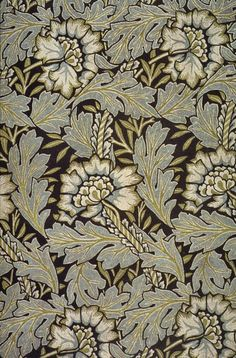 'Anemone' printed textile design by William Morris, produced by Morris & Co in 1876. via The Textile Blog
