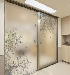 Online Shop Decorative self adhesive/static cling stained window film custom sticker mirror glass film door stickers birds on the branch Glass Wardrobe, Wardrobe Door Designs, Wardrobe Design Bedroom, Bedroom Furniture Design, Wardrobe Room, Bedroom Cupboard Designs, Bedroom Cupboards, Bedroom Designs, Bedroom Doors