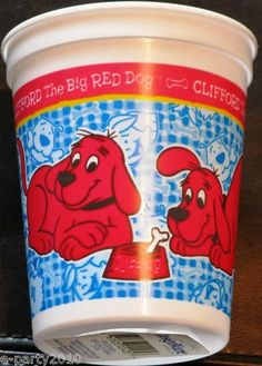 Clifford the Big Red Dog Reusable Keepsake Cup Red Birthday Party, Dog Birthday, Birthday Ideas, Dog Themed Parties, Party Themes, Party Ideas, Gift Ideas, Red Dog, Dog Products