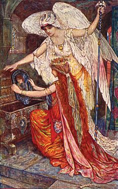 H. J. Ford - The Blue Parrot - The Olive Fairy Book by Andrew Lang, 1907