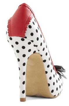 polka dot bow shoes heel. So cute!!! And surprisingly affordable. $44.99